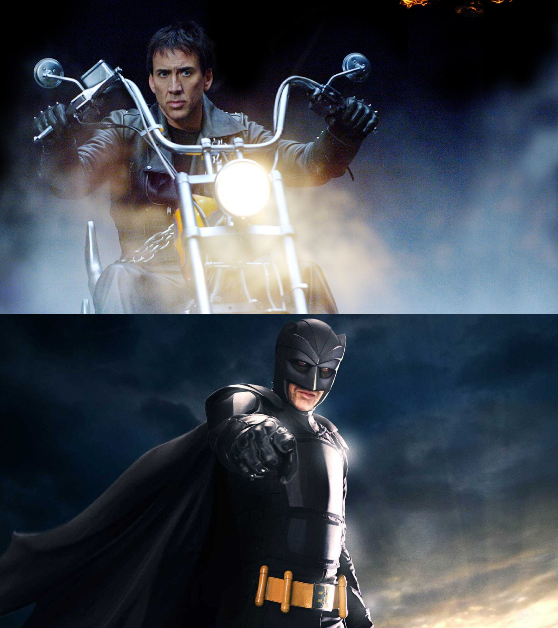 Nicolas Cage as Ghost Rider and Big Daddy - Actors who have played more than one superhero