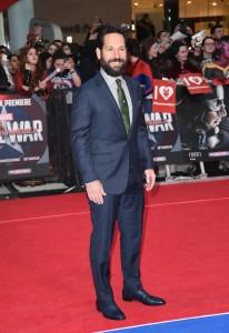 Paul Rudd at Marvel's Captain America: Civil War European Premiere held at Westfield, London, Shepherds Bush on April 26, 2016.