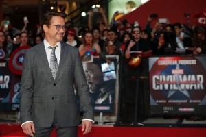 Robert Downey Jr. at Marvel's Captain America: Civil War European Premiere held at Westfield, London, Shepherds Bush on April 26, 2016.