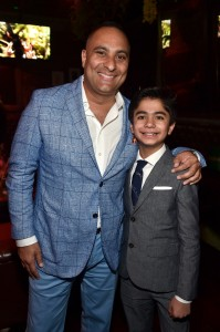 Russell Peters and Neel Sethi at the world premiere of The Jungle Book held at El Capitan Theatre, Hollywood Blvd, Los Angeles, California on April 4, 2016.