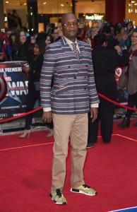 Samuel L. Jackson at Marvel's Captain America: Civil War European Premiere held at Westfield, London, Shepherds Bush on April 26, 2016.