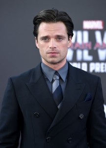 Sebastian Stan at the world premiere of Captain America: Civil War held at the Dolby Theatre, Hollywood Blvd, CA on April 12, 2016.