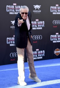 Stan Lee at the world premiere of Captain America: Civil War held at the Dolby Theatre, Hollywood Blvd, CA on April 12, 2016.