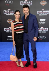 Wendy Moniz and Frank Grillo at the world premiere of Captain America: Civil War held at the Dolby Theatre, Hollywood Blvd, CA on April 12, 2016.