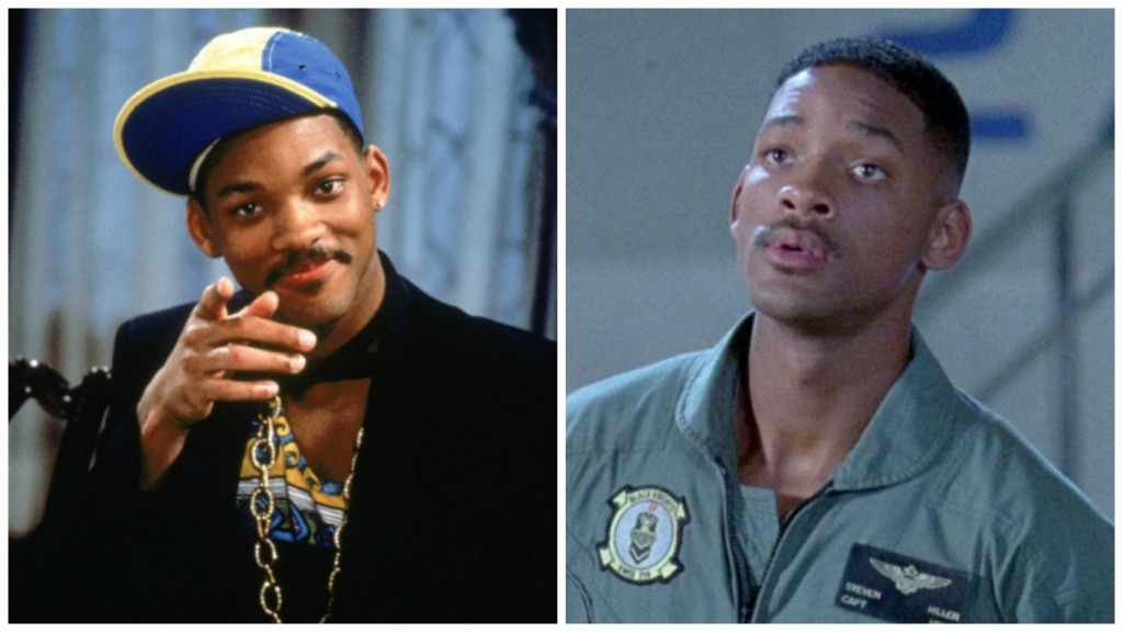 Will Smith in The Fresh Prince of Bel Air and Independence Day