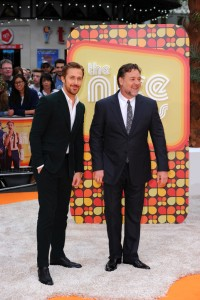 Ryan Gosling and Russell Crowe at The Nice Guys UK Premiere held at the Odeon, Leicester Square, London on Thursday May 19, 2016.