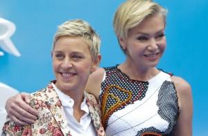 Ellen DeGeneres and Portia De Rossi Finding Dory European Film Premiere London