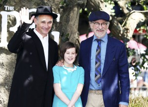 Mark Rylance, Ruby Barnhill and Steven Spielberg The BFG London Film Premiere