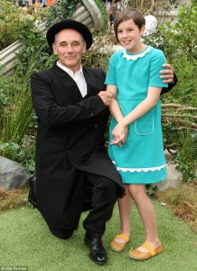 Mark Rylance and Ruby Barnhill The BFG London Film Premiere