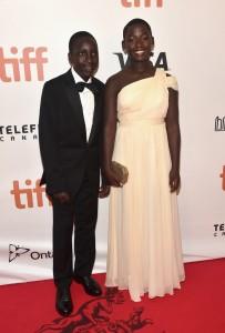 Martin Kabanza and Madina Nalwanga Queen of Katwe Toronto International Film Festival Premiere