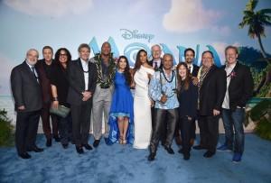 Cast and Filmmakers of Moana Moana World Premeiere Hollywood