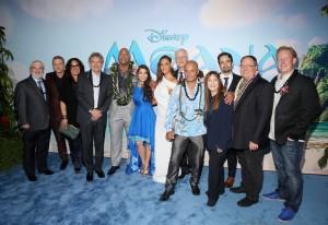 Cast and Crew Moana World Premeiere Hollywood