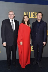 Robert Zemeckis, Marion Cotillard & Brad Pitt Allied Paris Premiere