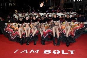 Dancers I Am Bolt World Premiere London Leicester Square