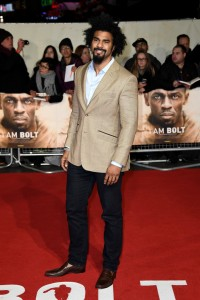 David Haye I Am Bolt World Premiere London Leicester Square