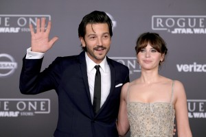 Diego Luna and Felicity Jones Rogue One: A Star Wars Story World Premiere