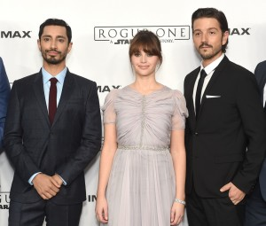 Riz Ahmed, Felicity Jones and Diego Luna Rogue One: A Star Wars Story London Film Premiere Special Screening