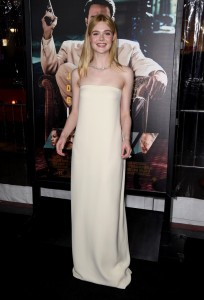 Elle Fanning Warner Bros Live By Night Hollywood Premiere Los Angeles