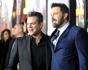 Matt Damon and Ben Affleck Warner Bros Live By Night Hollywood Premiere Los Angeles