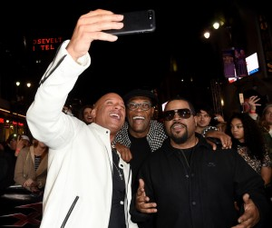 Vin Diesel, Ice Cube and Samuel L. Jackson xXx: Return of Xander Cage Los Angeles Film Premiere Hollywood