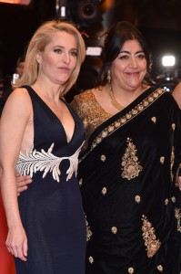 Gillian Anderson and Gurinder Chadha Viceroy's House Berlin International Film Festival Premiere