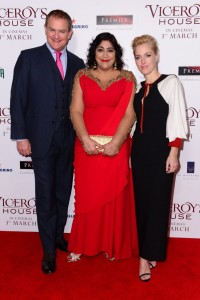 Hugh Bonneville, Gurinder Chadha and Gillian Anderson Viceroy's House London Film Premiere