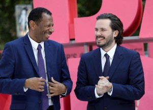C.J. Jones and Edgar Wright Baby Driver European Premiere Leicester Square London