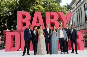 Cast of Baby Driver European Premiere Leicester Square London