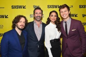 Edgar Wright, Jon Hamm, Eiza Gonzalez and Ansel Elgort Baby Driver Premiere SXSW Festival Conference