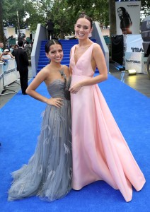 Isabela Moner and Laura Haddock Transformers: The Last Knight Global Premiere London Leicester Square