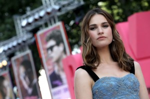 Lily James Baby Driver European Premiere Leicester Square London