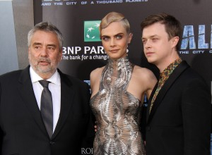 Luc Besson, Cara Delevingne and Dane DeHaan Valerian and the City of a Thousand Planets World Premiere Hollywood Los Angeles