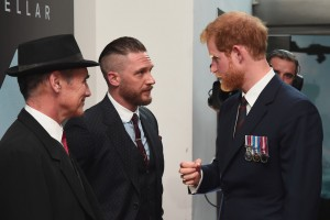 Mark Rylance and Tom Hardy meet Prince Harry at the world premiere of Dunkirk in Leicester Square, London