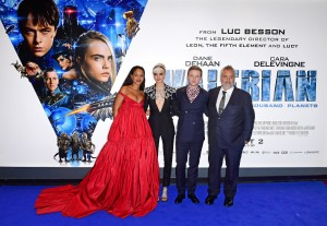 Cast and Director Valerian and the City of a Thousand Planets European Premiere London Leicester Square