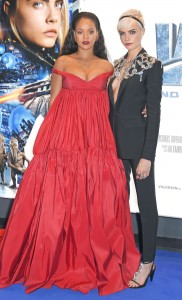 Rihanna and Cara Delevingne Valerian and the City of a Thousand Planets European Premiere London Leicester Square