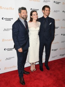 Andy serkis, Claire Foy and Andrew Garfield Breathe New York Special Screening