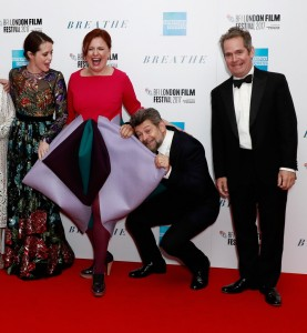 Claire Foy, Claire Stewart, Hugh Bonneville and Tom Hollander
