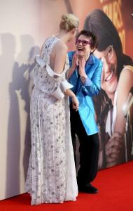 Emma Stone and Billie Jean king Battle of the Sexes European Premiere 61st BFI London Film Festival