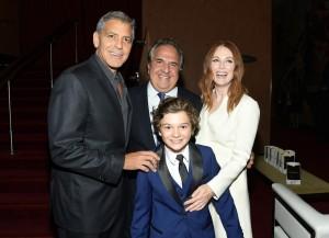 George Clooney, Jim Gianopulos, Julianne Moore and Noah Jupe Suburbicon 2017 Toronto International Film Festival Premiere
