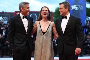 George Clooney, Julianne Moore and Matt Damon Suburbicon Premiere during 74th Venice International Film Festival