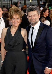 Lorraine Ashbourne and Andy Serkis