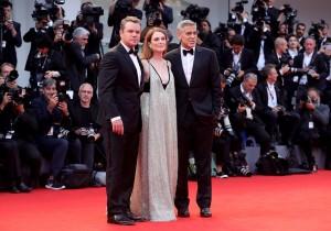Matt Damon, Julianne Moore and George Clooney Suburbicon Premiere during 74th Venice International Film Festival