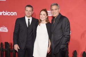 Matt Damon, Julianne Moore and George Clooney Suburbicon Los Angeles Premiere
