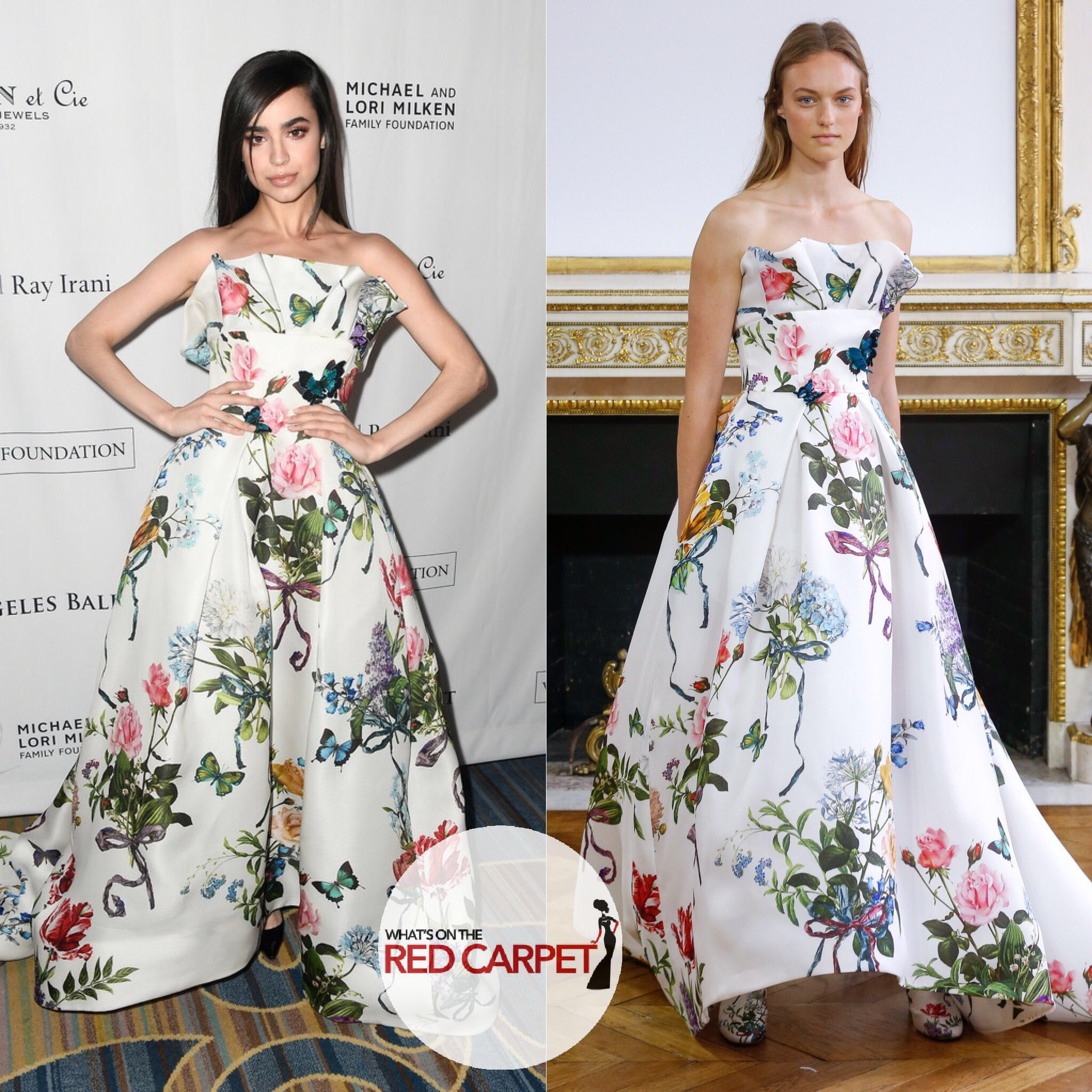 Sofia Carson wore Monique Lhuillier Spring 2018 RTW to the 12th Annual Los Angeles Ballet Gala Fashion style