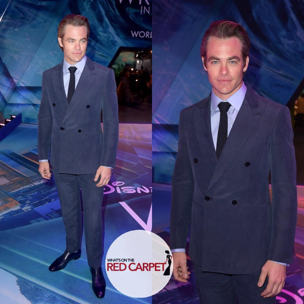 Chris Pine Giorgio Armani A Wrinkle in Time Los Angeles Premiere Fashion Style