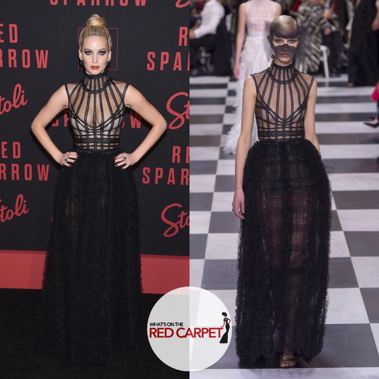 Jennifer Lawrence Christian Dior Spring 2018 Couture Red Sparrow Premiere New York City