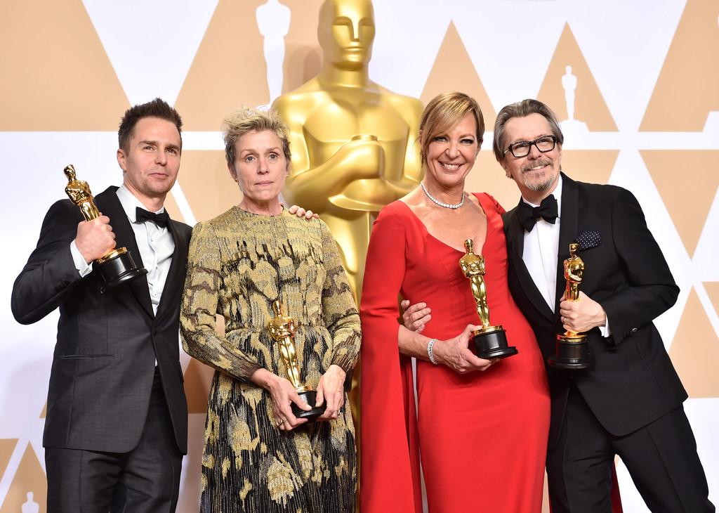 Sam Rockwell Frances McDormand Allison Janney and Gary Oldman win big at the 90th annual academy awards oscars