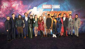 Cast with fans and filmmakers Avengers: Infinity War UK Fan Screening London Premiere Event