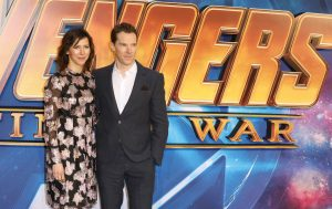 Sophie Hunter and Benedict Cumberbatch Avengers: Infinity War UK Fan Screening London Premiere Event