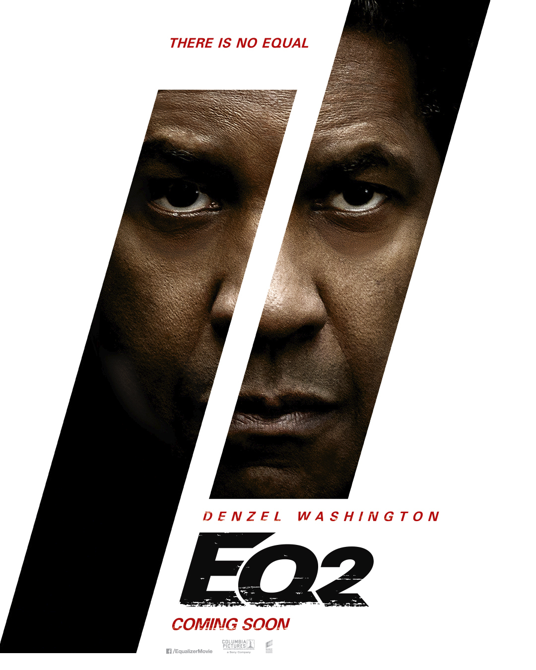 The Equalizer 2 Official Movie poster starring Denzel Washington